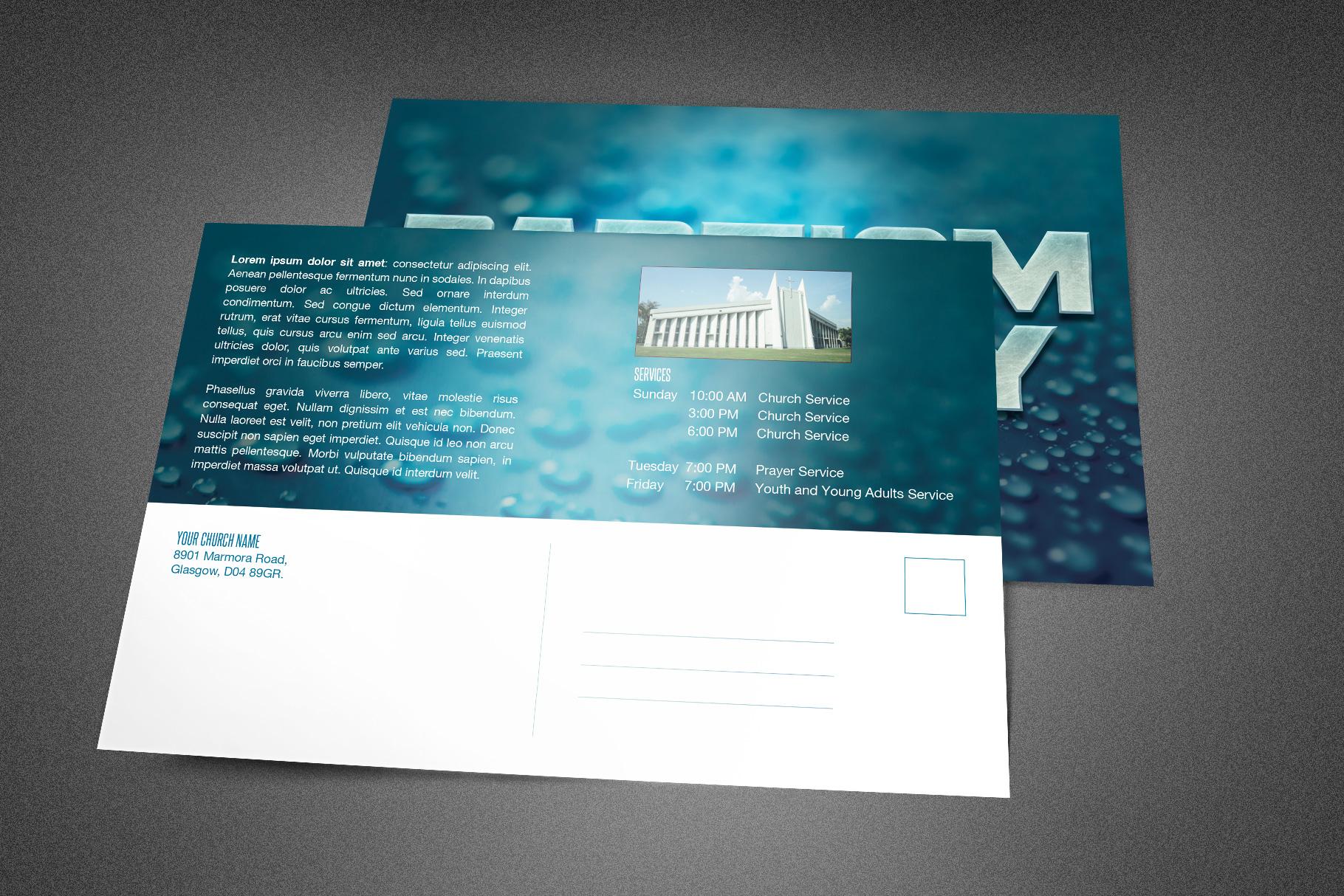 Baptism Sunday Church Postcard example image 2