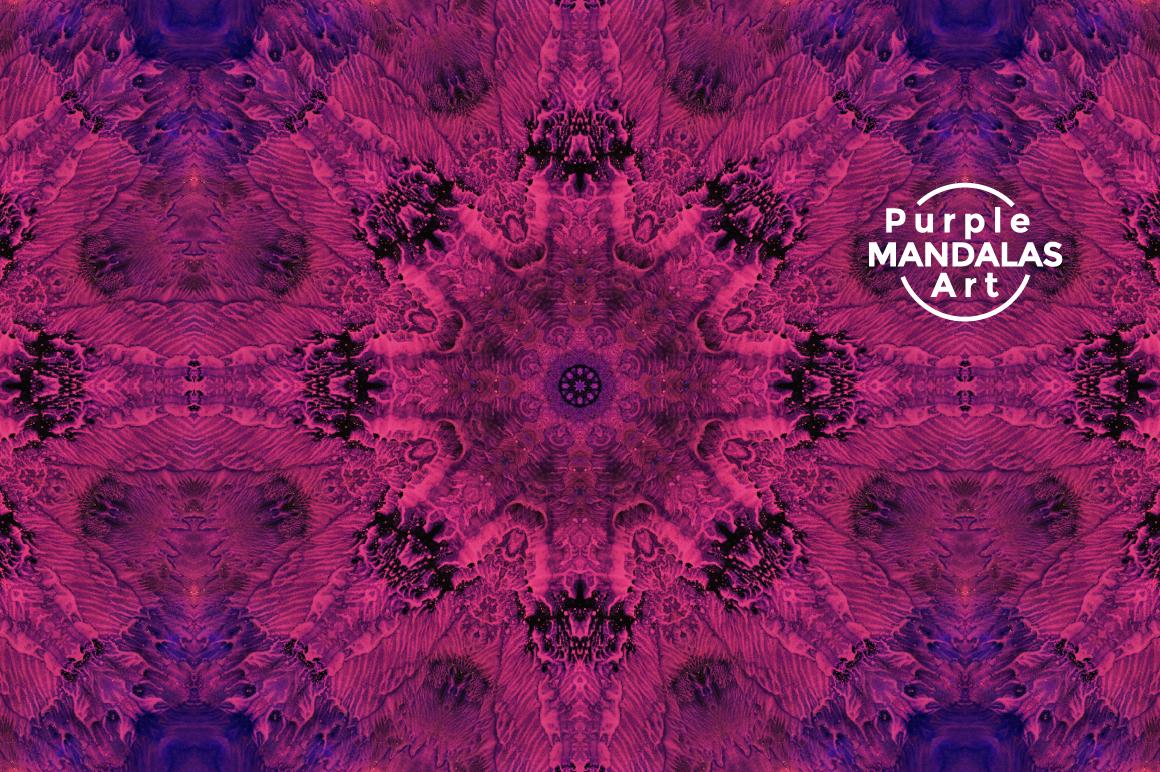 Purple MANDALAS Art example image 6