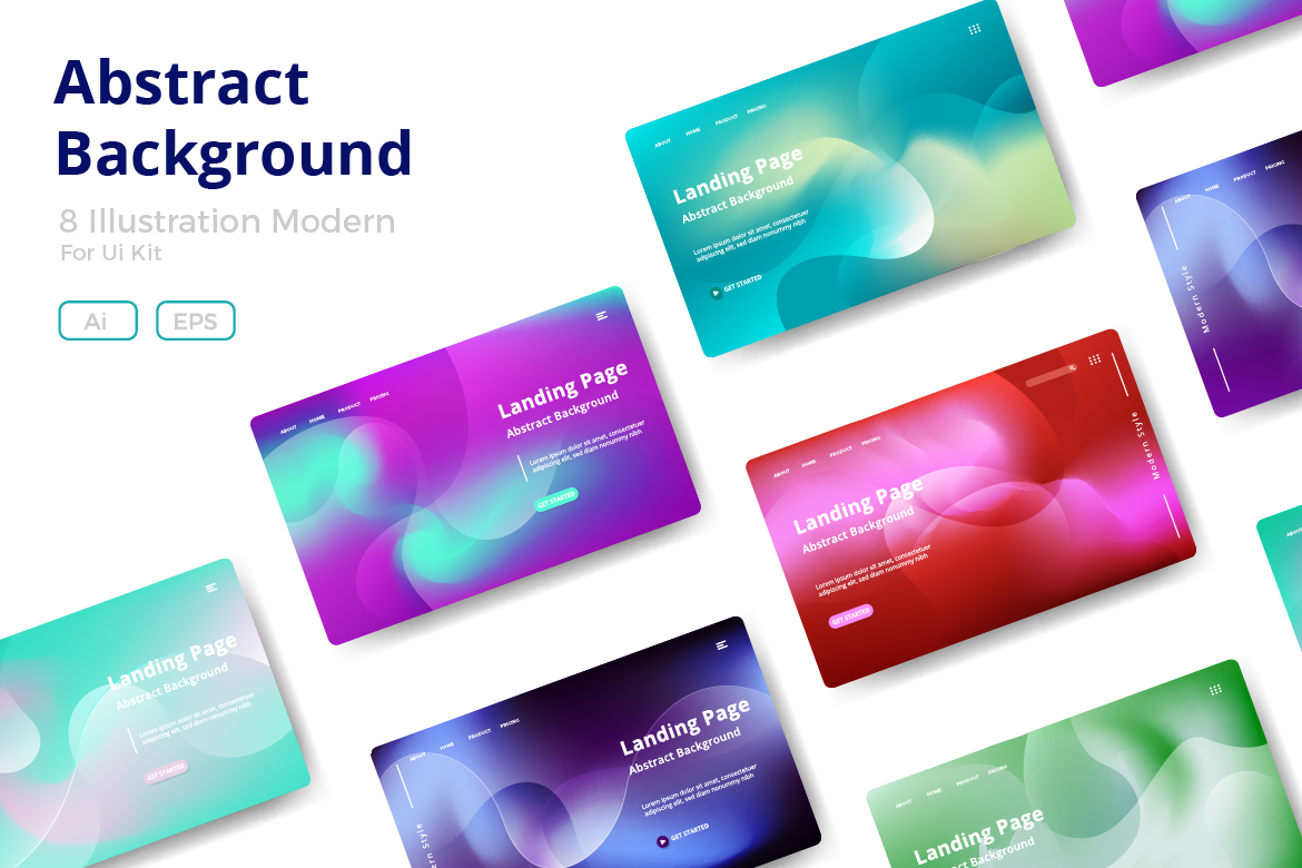 8 Abstract background design example image 1