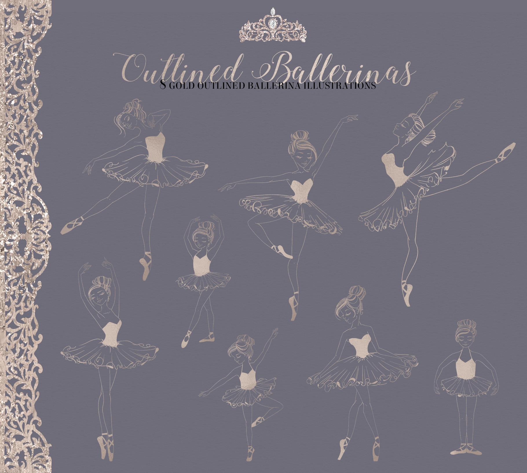 The Grand Ballerina Clipart Collection example image 8