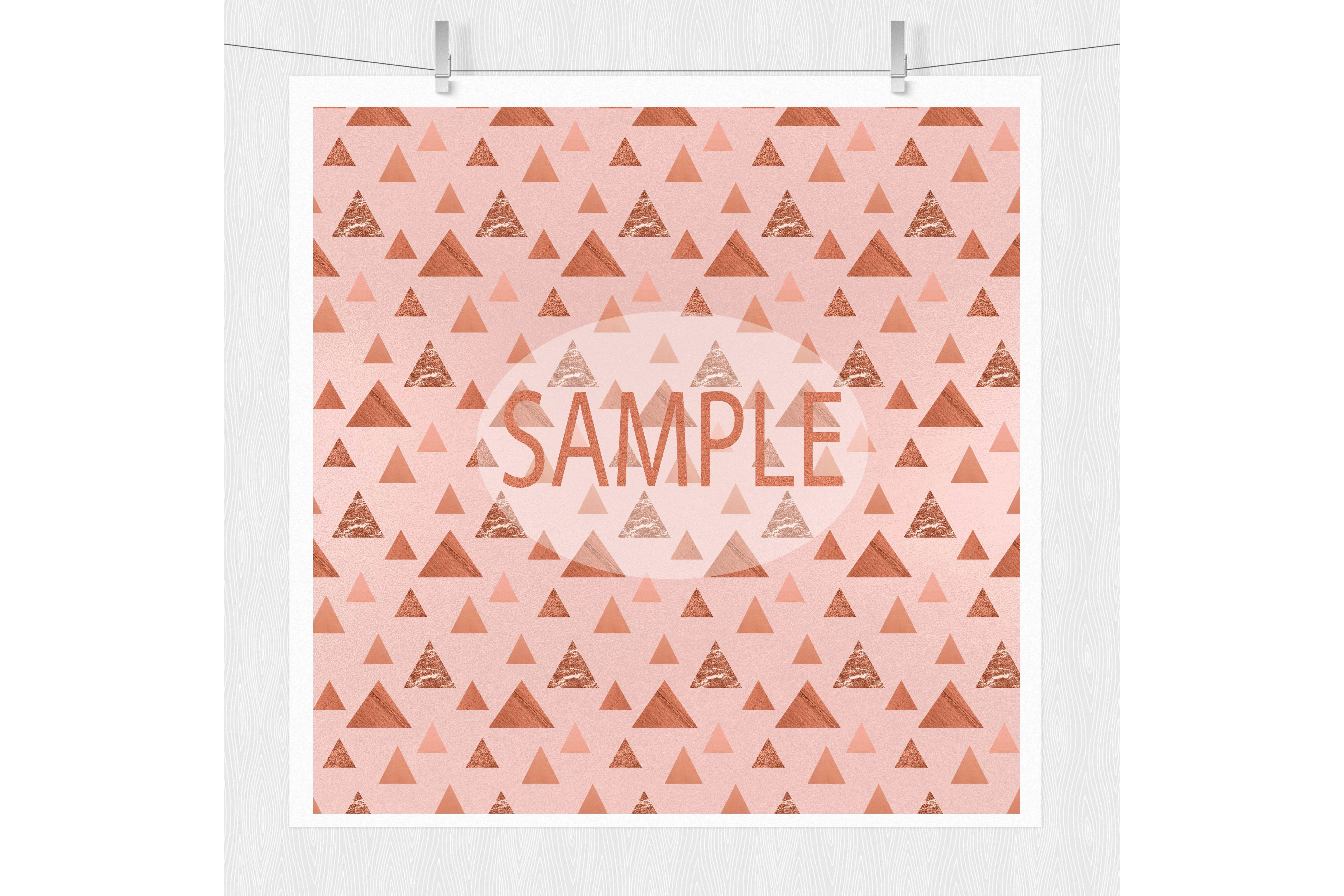 Rose Gold Digital Paper - Rose Gold Texture example image 2