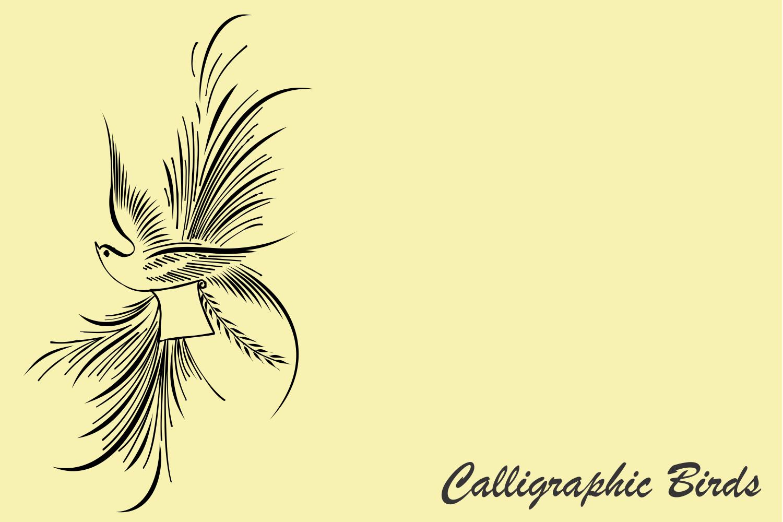 Calligraphic Birds example image 4