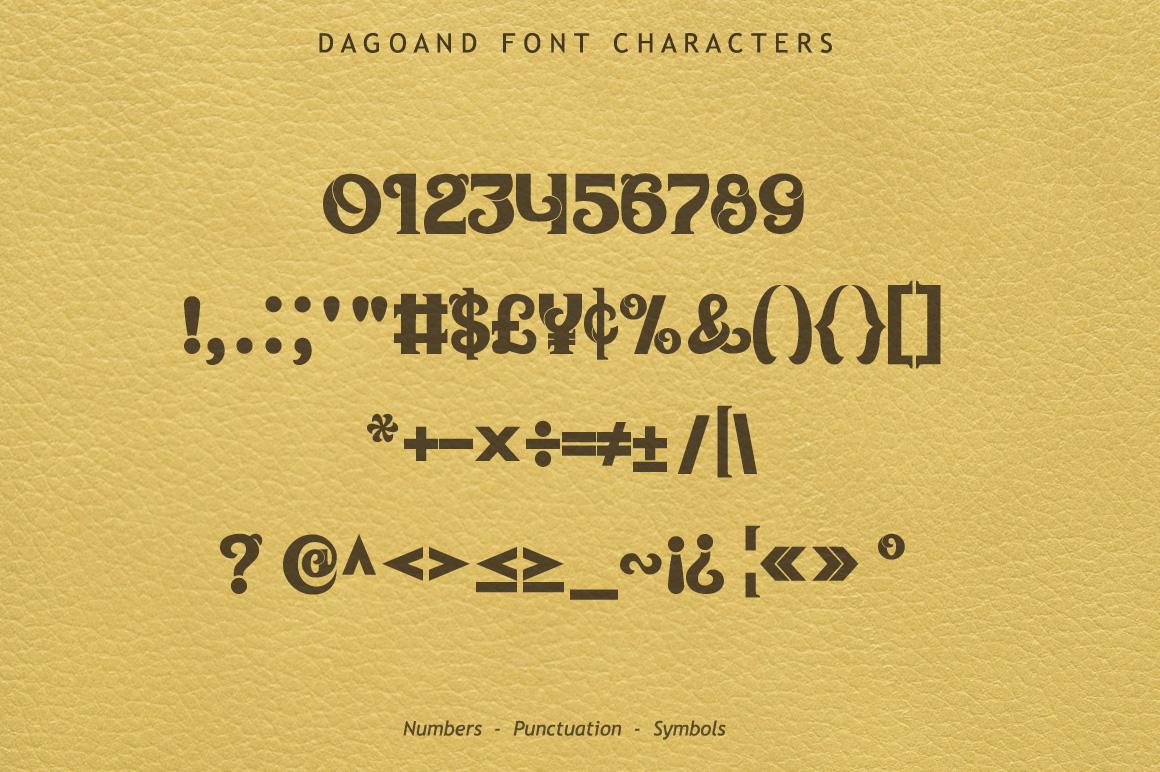 Dagoand Font example image 7