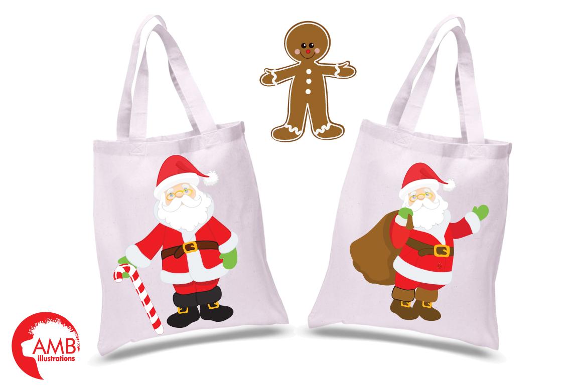 Classic Santas clipart, graphics, illustrations AMB-198 example image 2
