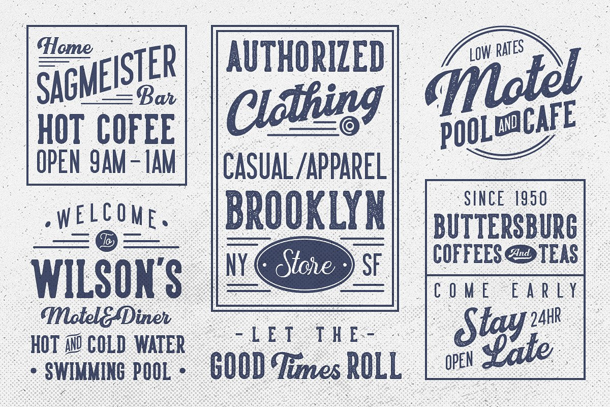 Harsey Type ToolBox (16 FONTS) example image 6