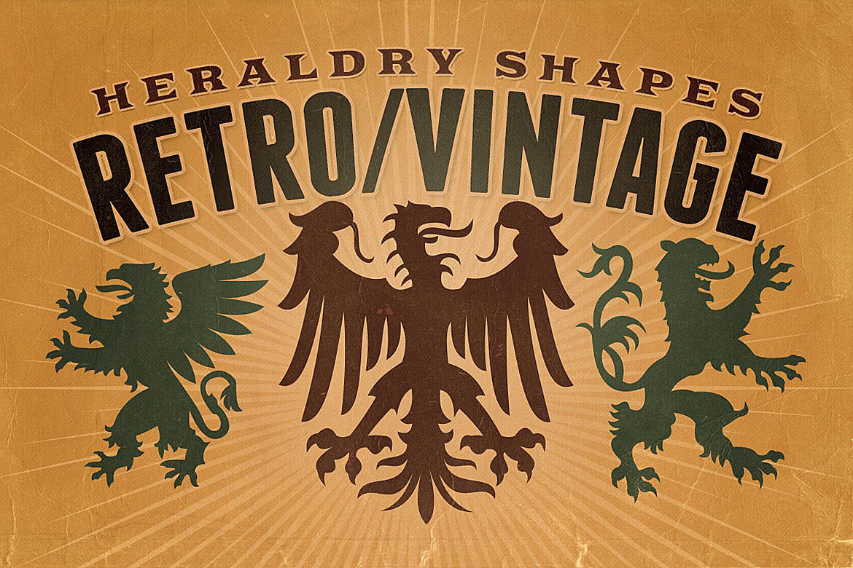Vintage shapes - Heraldry Symbols 2 example image 1
