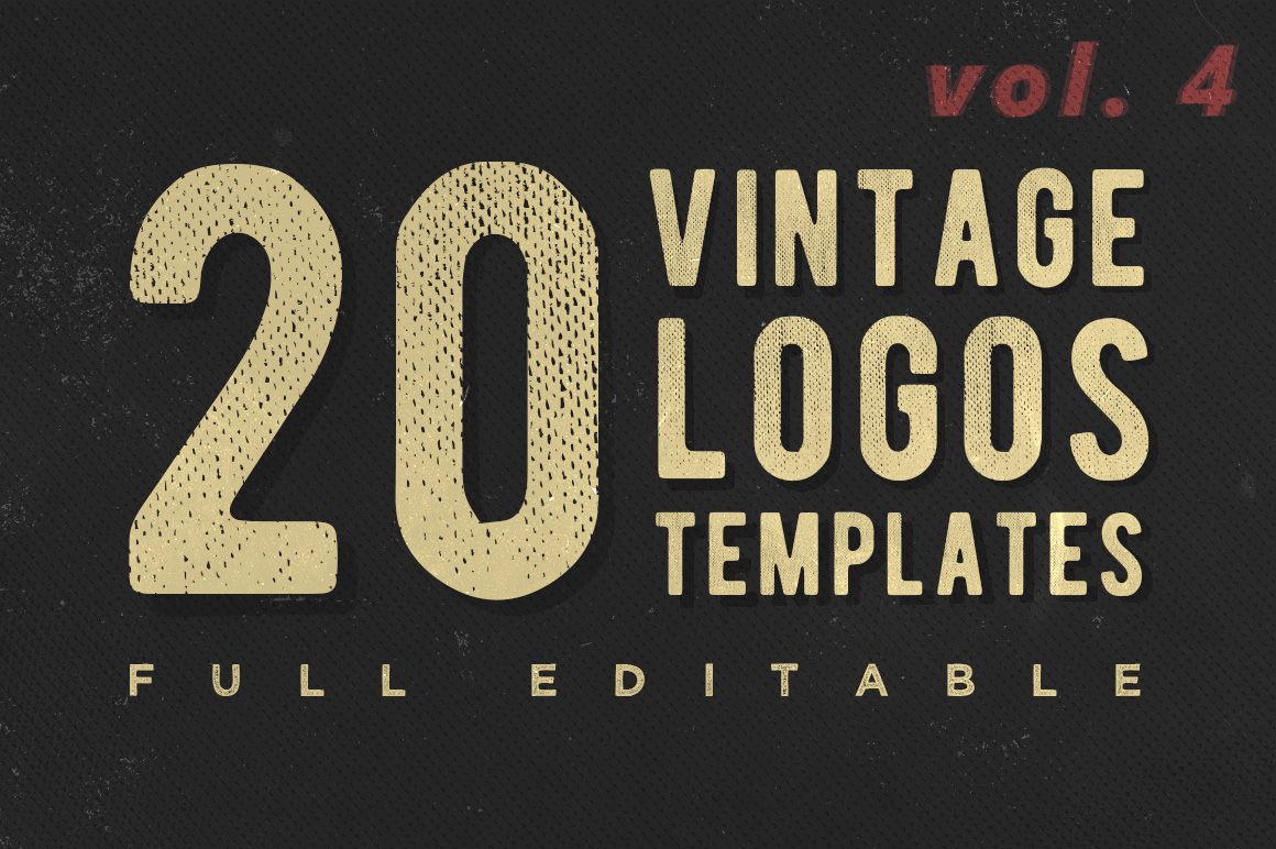 Vol. 4 | 20 Vintage Logo Templates example image 1