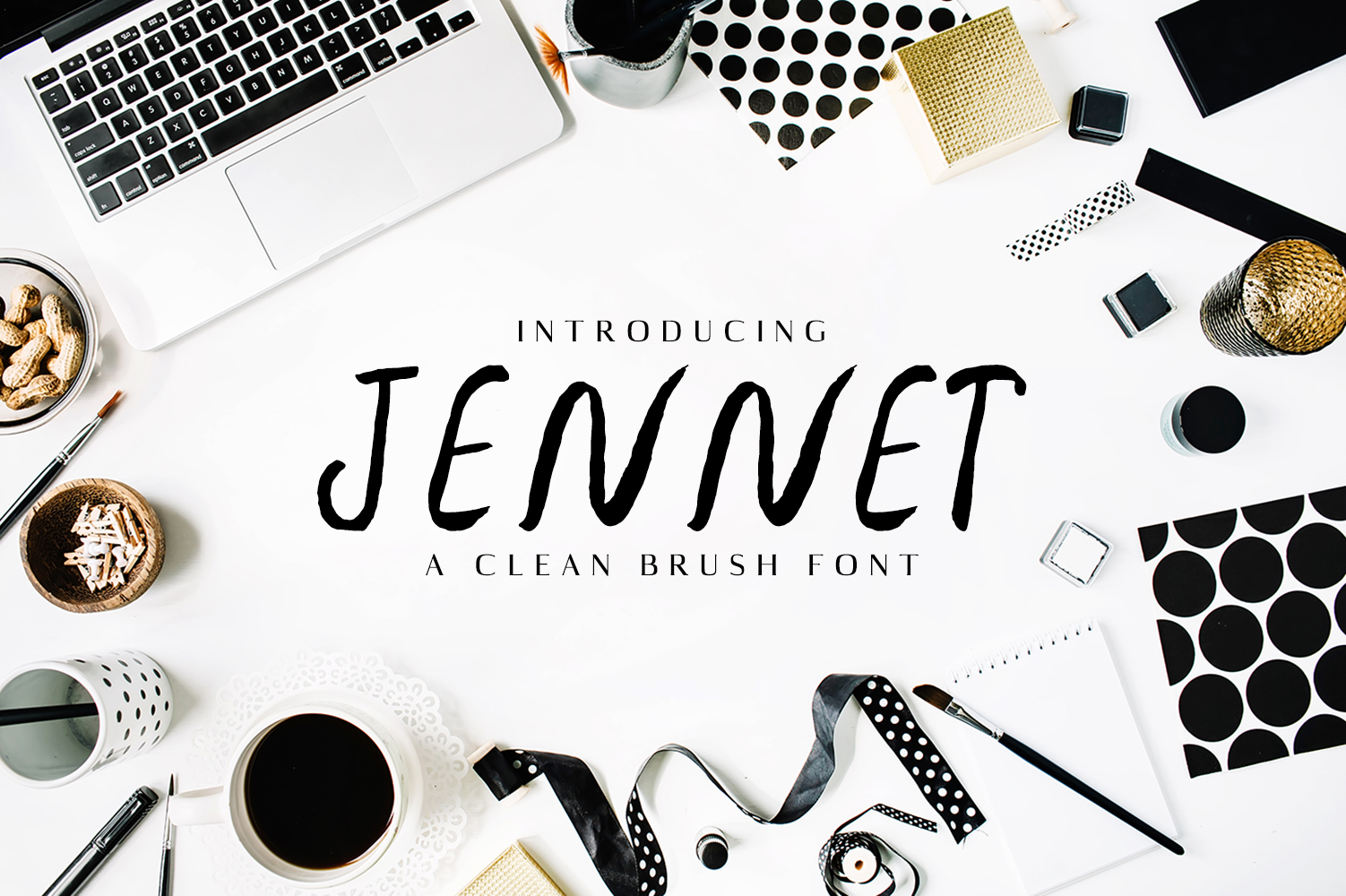Jennet Brush Font Family example image 1