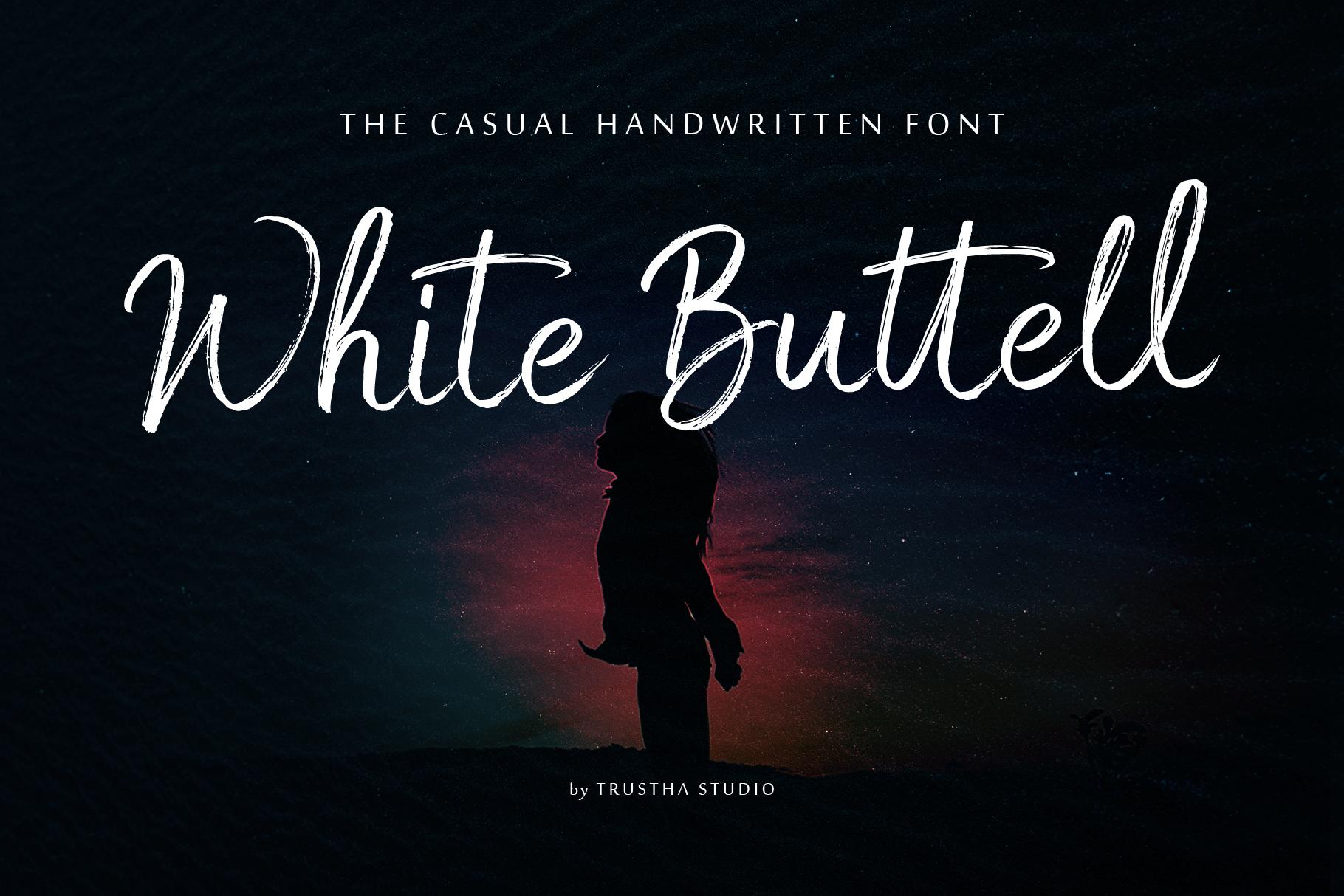 White Buttell Brush Font example image 1