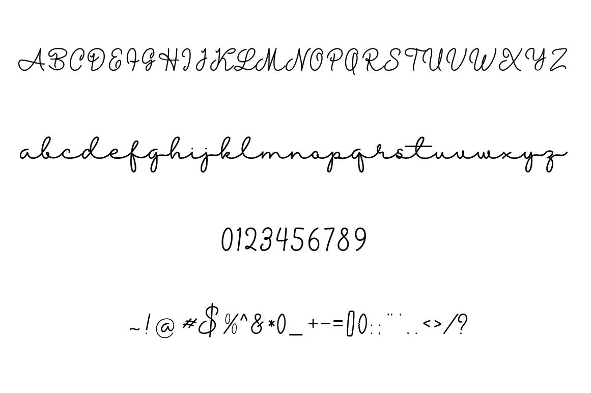 Michalline (line Script) example image 6