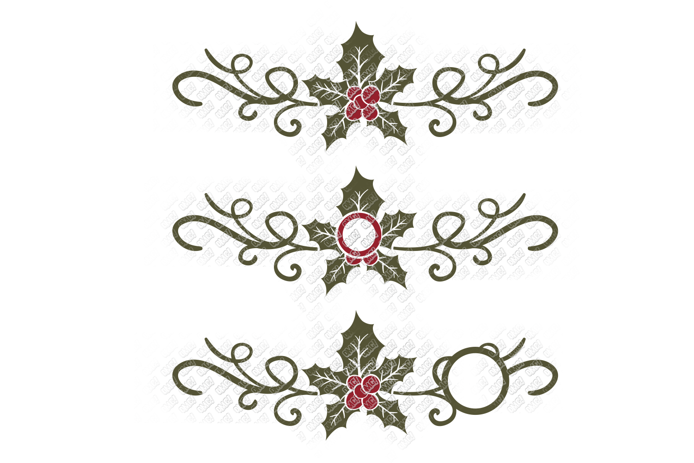 Mistletoe SVG Monogram Christmas in SVG, DXF, PNG, EPS, JPEG example image 6