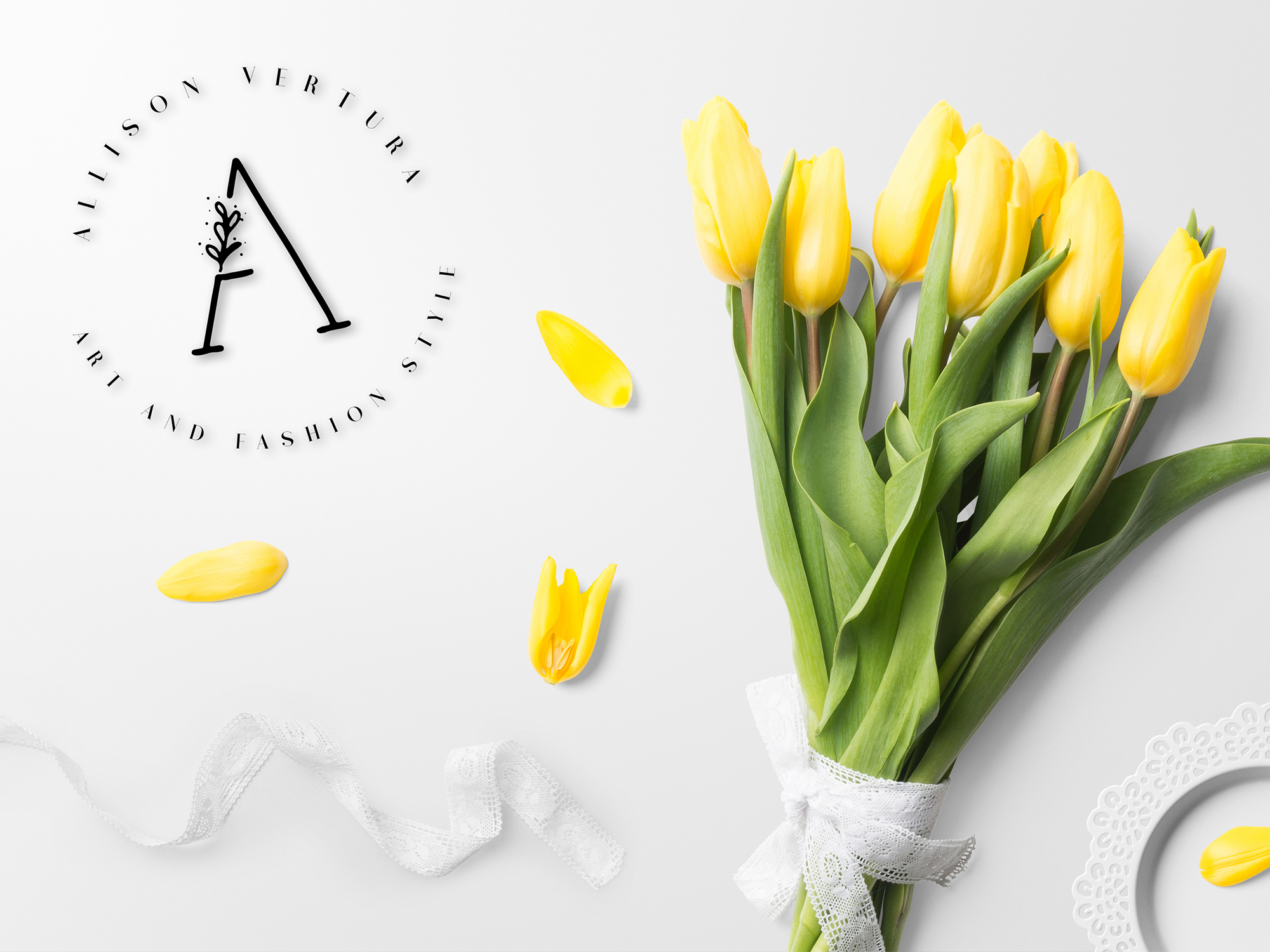 MINIMAL FLORAL LETTER AND LOGO KIT example image 8