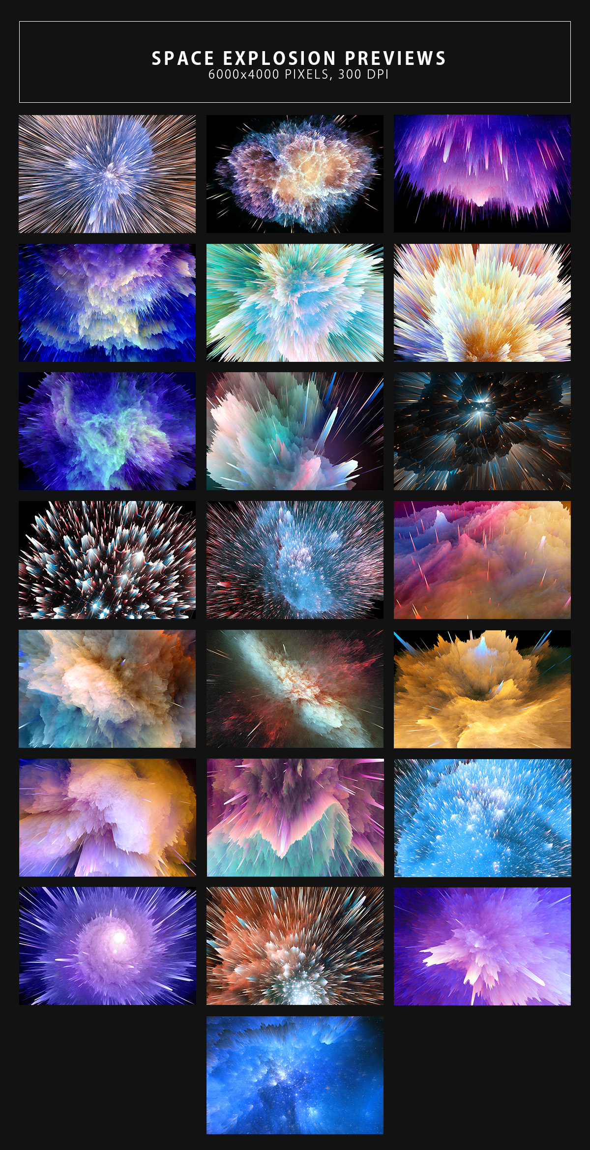 Space Explosion Backgrounds example image 7