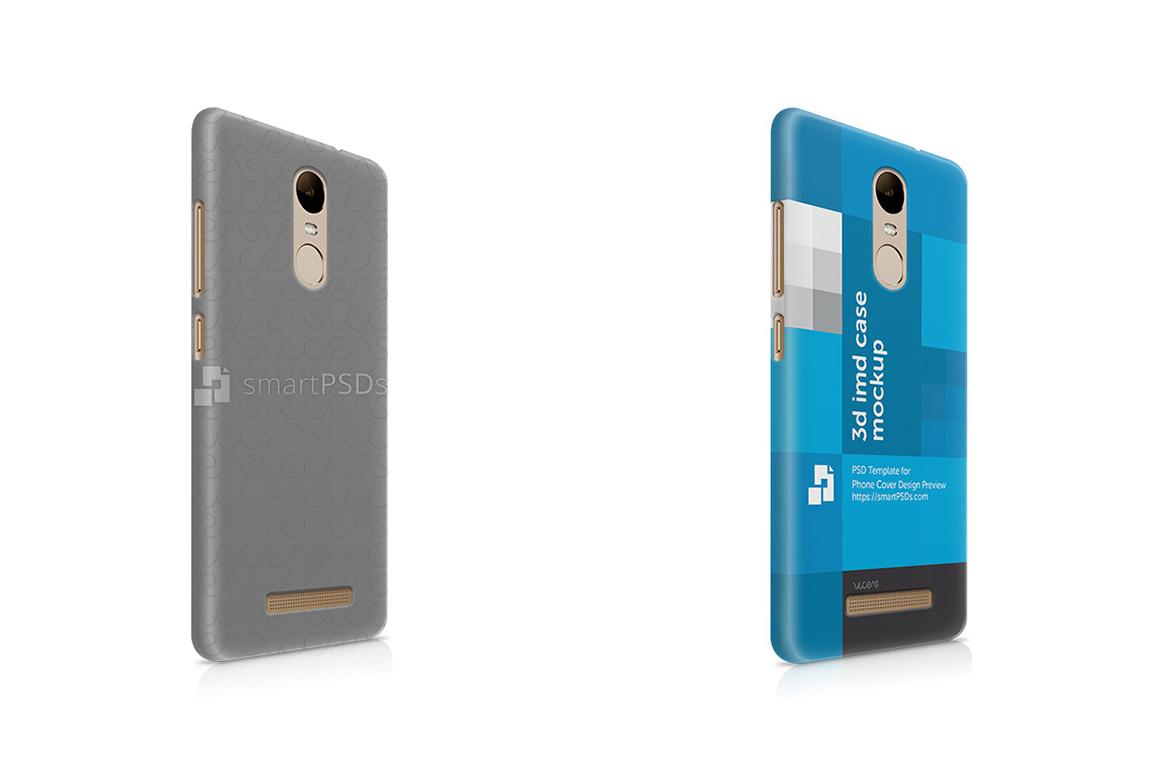 Xiaomi Redmi Note 3 3d IMD Mobile Case Design Mockup 2016- Right view example image 1