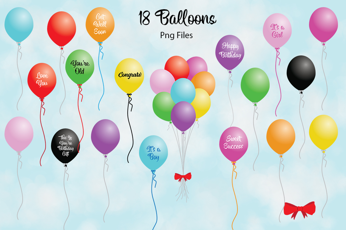 Balloon Bundle PNG's example image 1