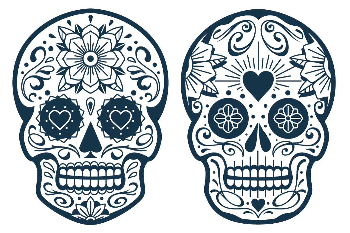 Vector Mexican Sugar Skulls example image 2