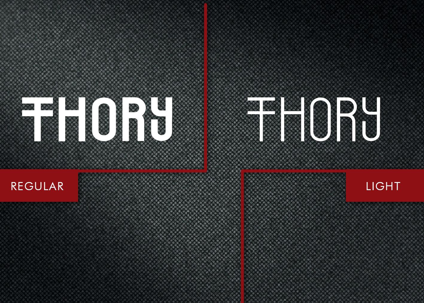 Thory Typeface example image 8