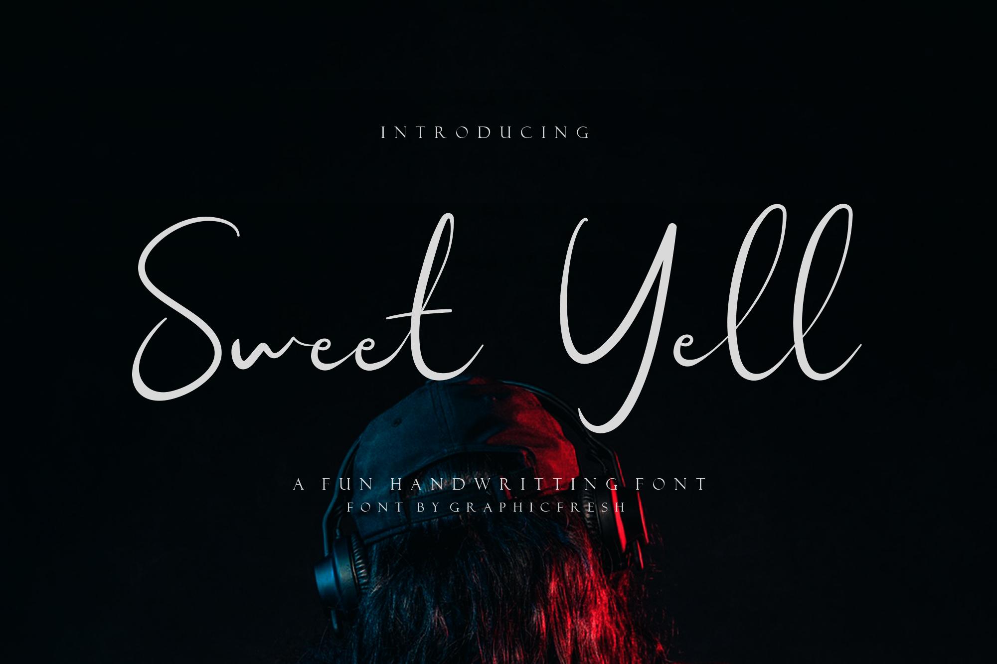 Sweet Yell - A Fun Handwritting example image 1