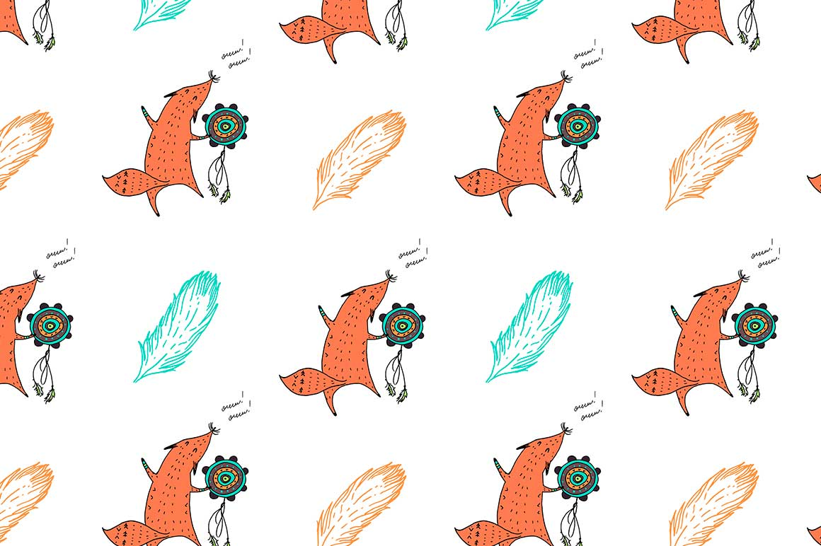 Fox personages and patterns example image 9