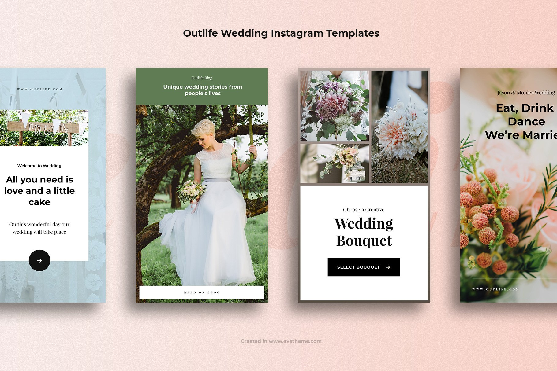 Outlife Wedding Instagram Templates example image 3
