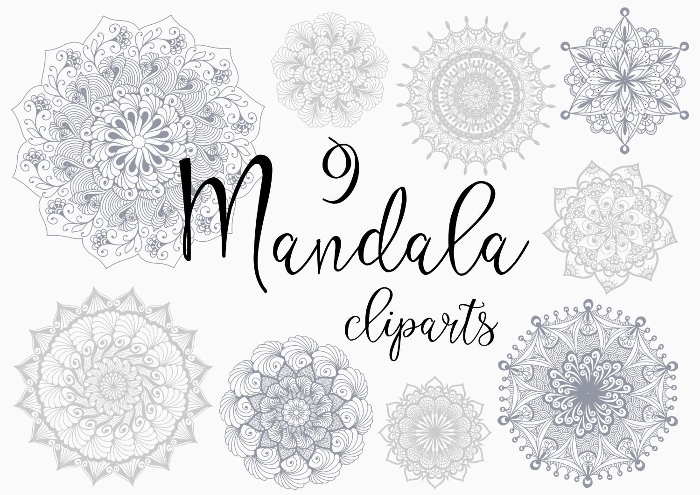 Hand drawn mandala set example image 2