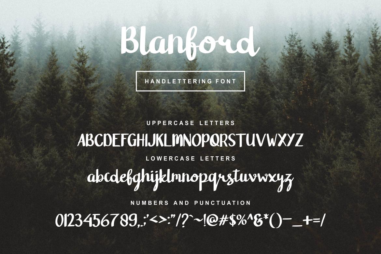 Blanford Handlettering Font example image 3