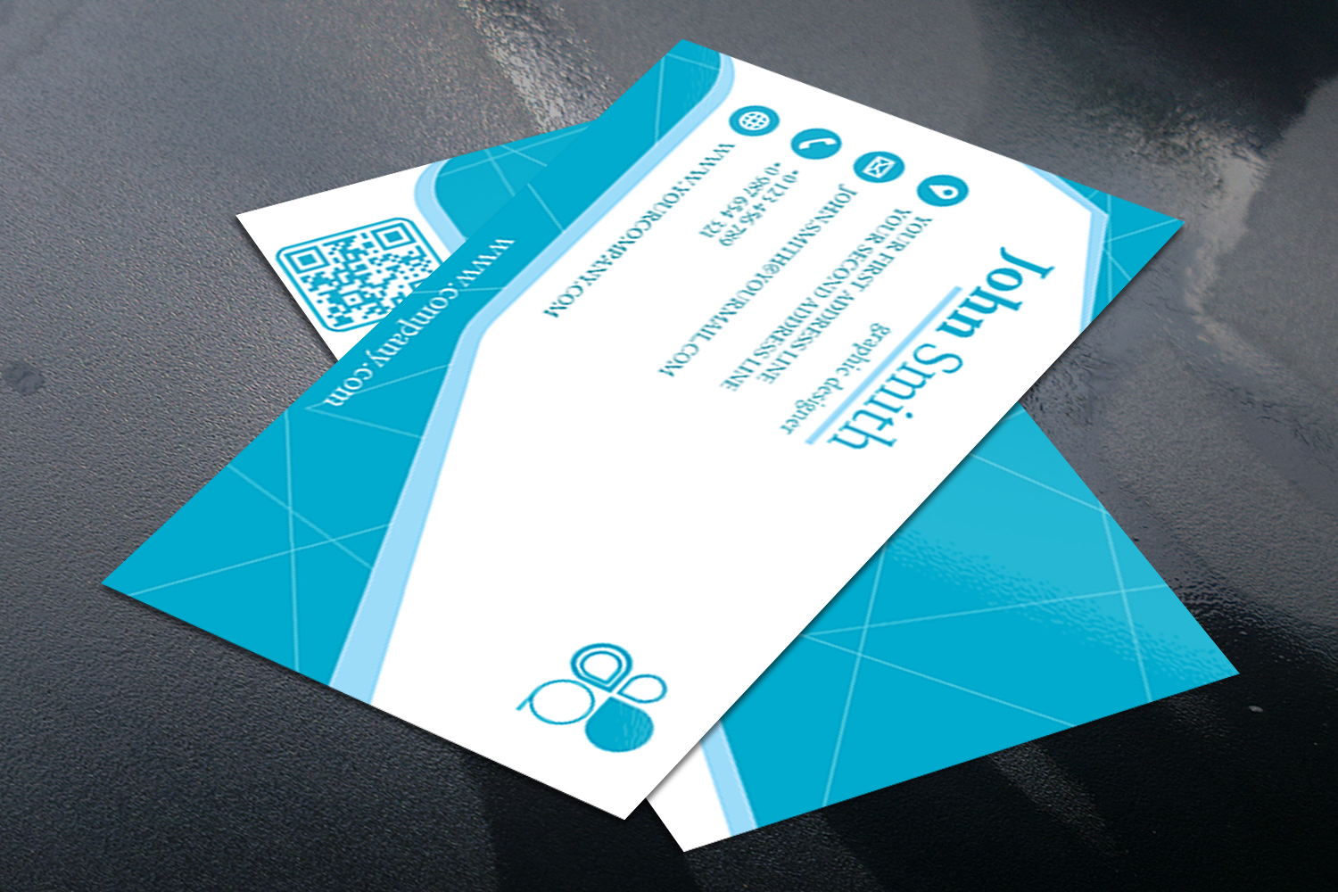 Business Card Simple Modern Design in 3 different Colors example image 2