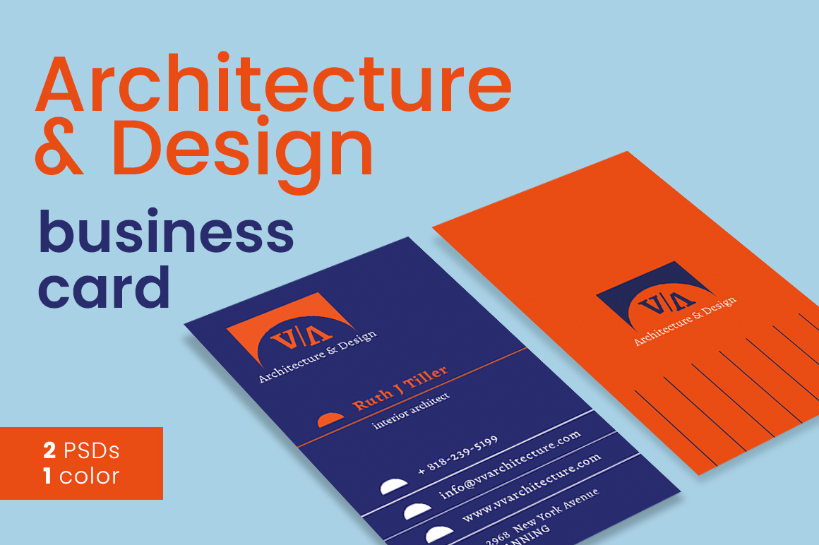 Architecture & Design Business Card example image 2