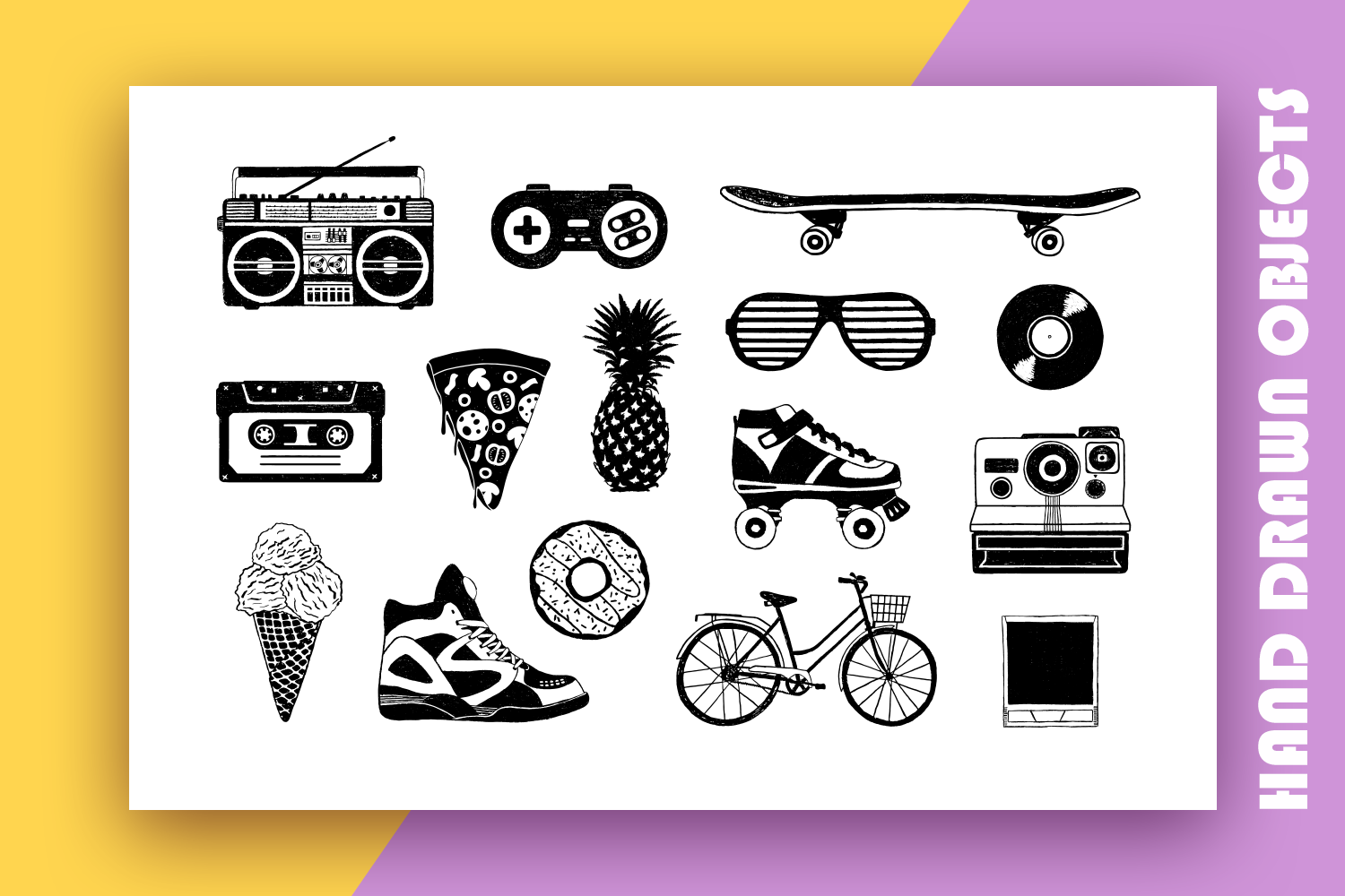 Back to the 90's. Hand Drawn Icons example image 4