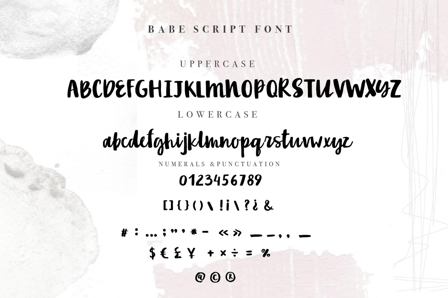 Babe Handwritten script Font example image 5