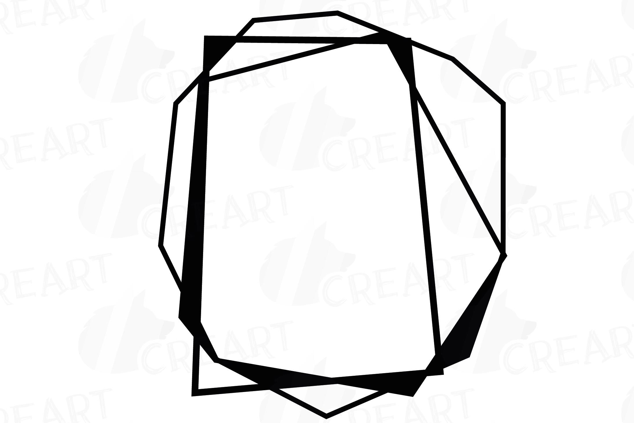 Chaotic geometric black frames, lineal frames clip art example image 16