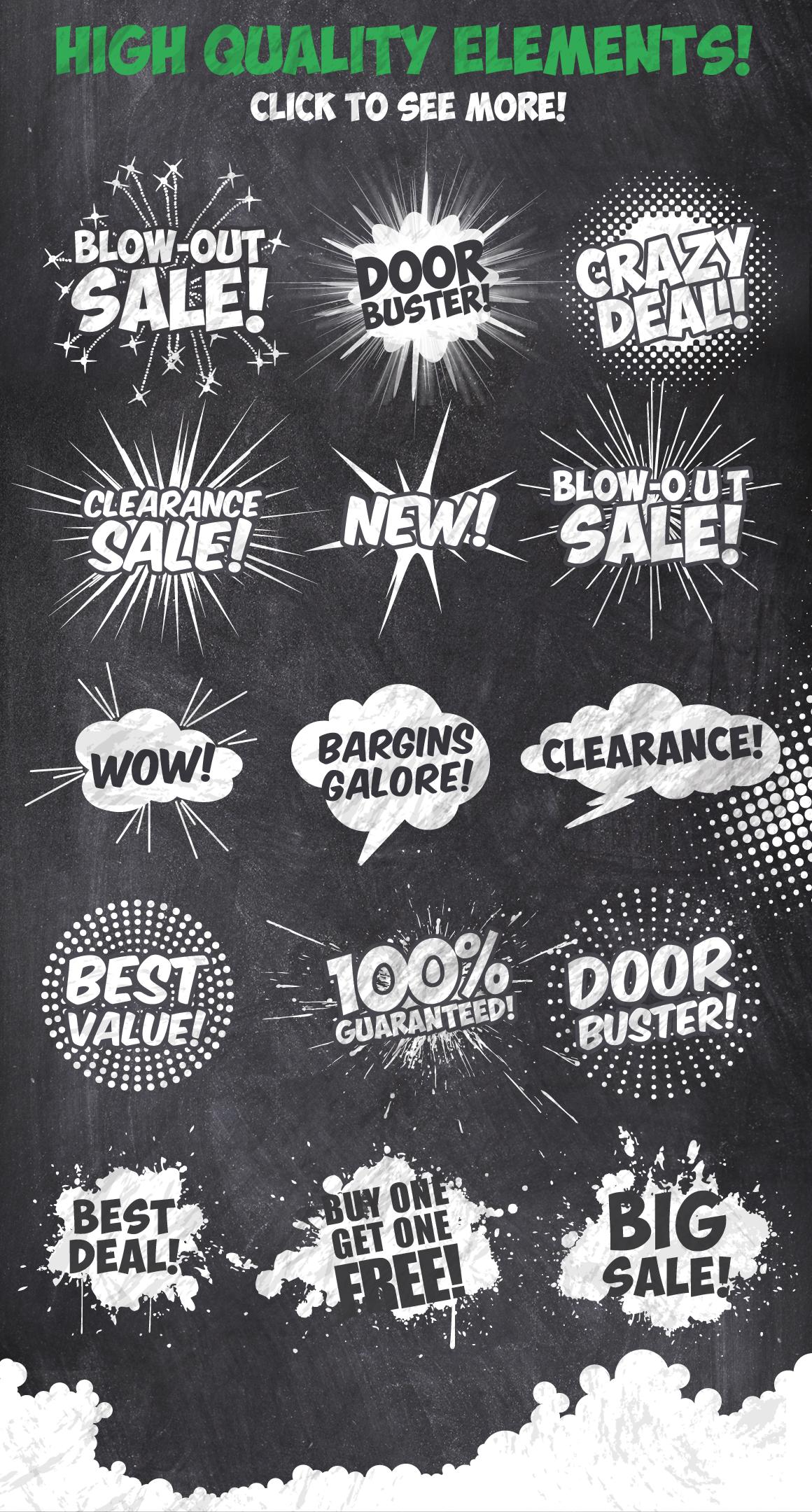 50 Chalk Sales Promo Bundle example image 5