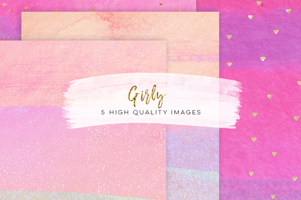 Girly Paper pack, Hand drawn watercolor paper, Digital Fashion Papers, confetti glitter modern paper, pink paper graduation paper DIY invite example image 4