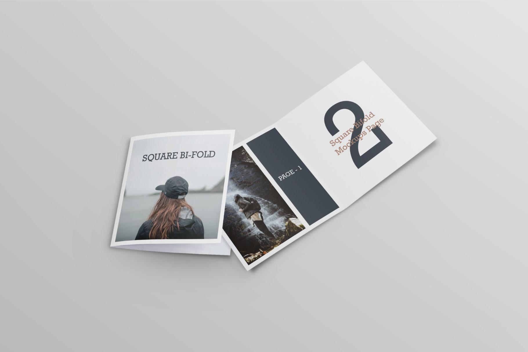 Square Greeting Card Mock-Ups example image 8