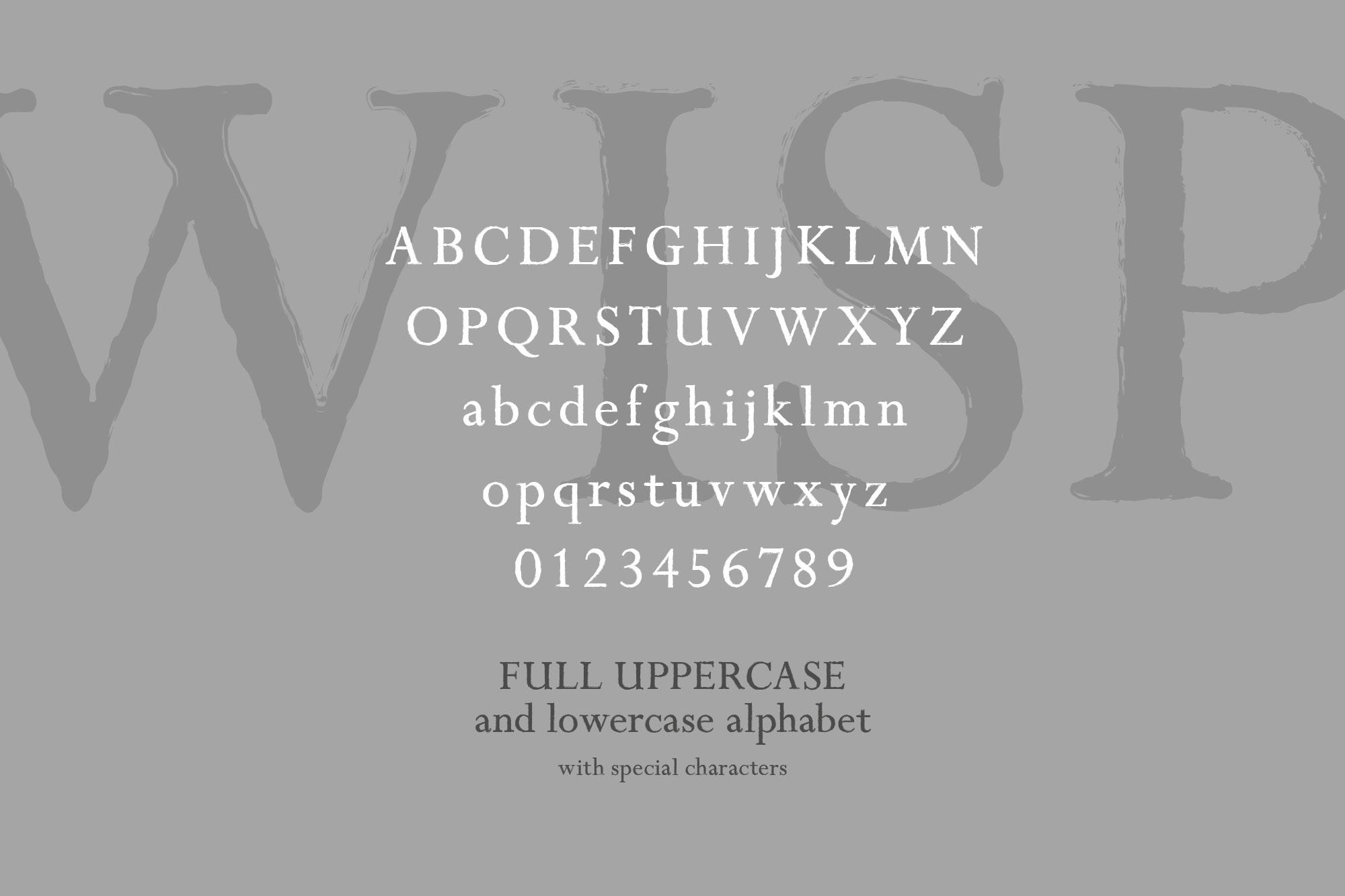 Wisper - a distressed serif font example image 2