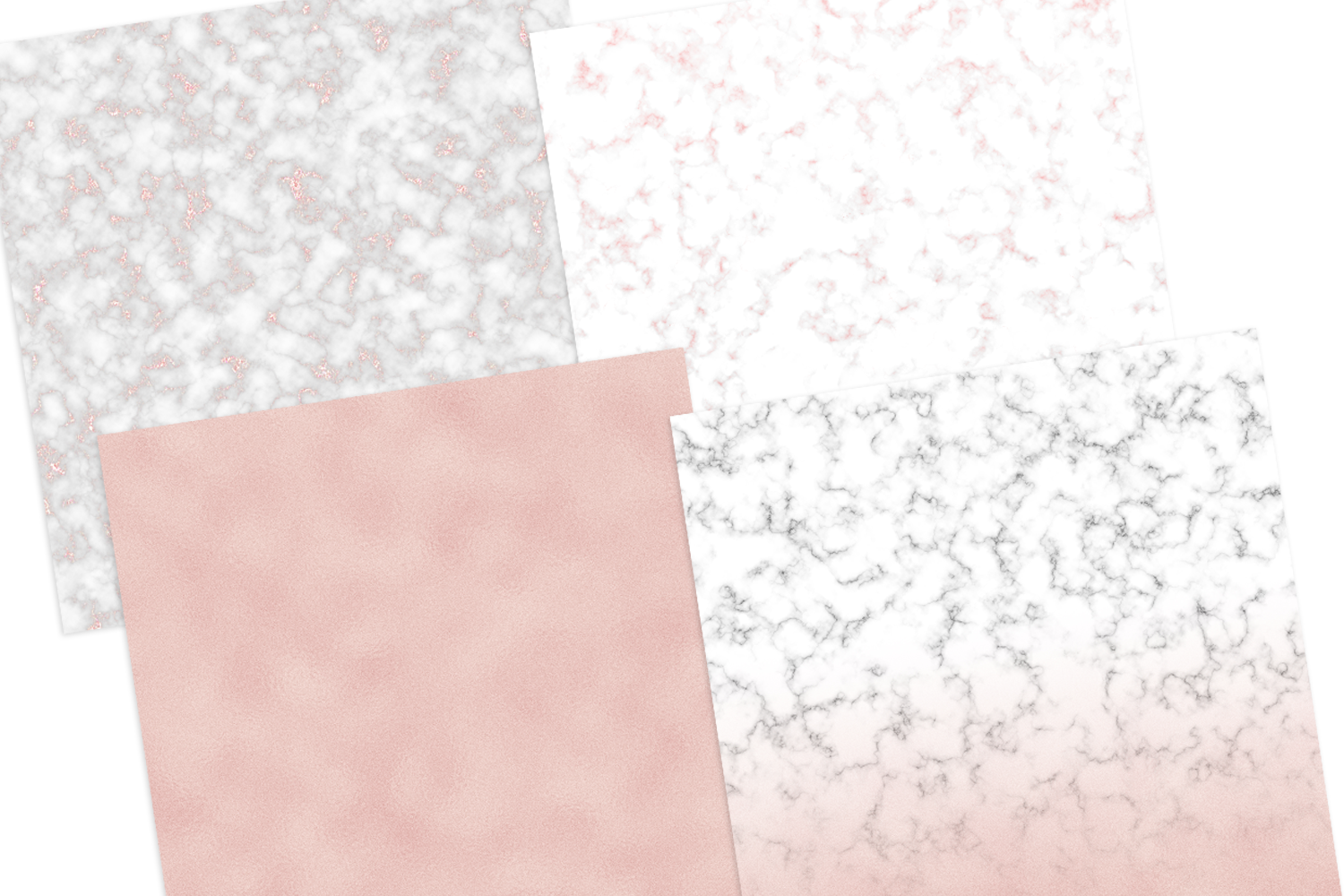 Marble x Rose Gold Texture Digital Papers example image 4