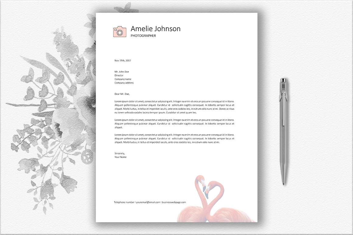 Letterhead Design Template example image 2