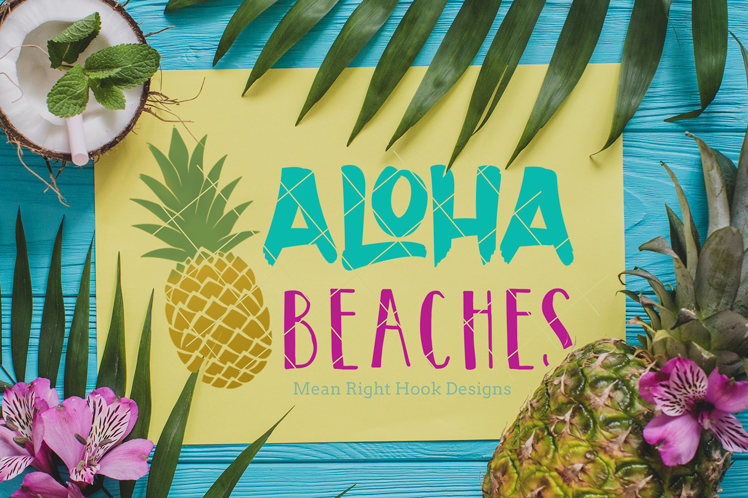 Aloha Beaches | Summer Design - SVG, EPS, DXF, PNG vector files for cutting machines like the Cricut Explore & Silhouette example image 2