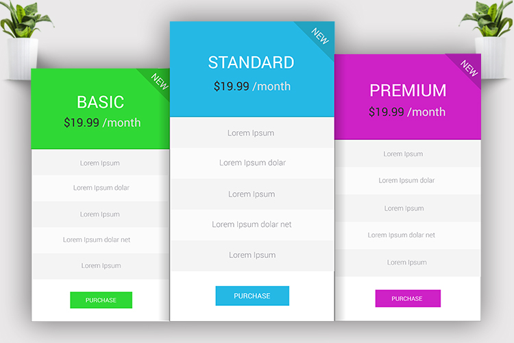 Minimal Pricing Table example image 2