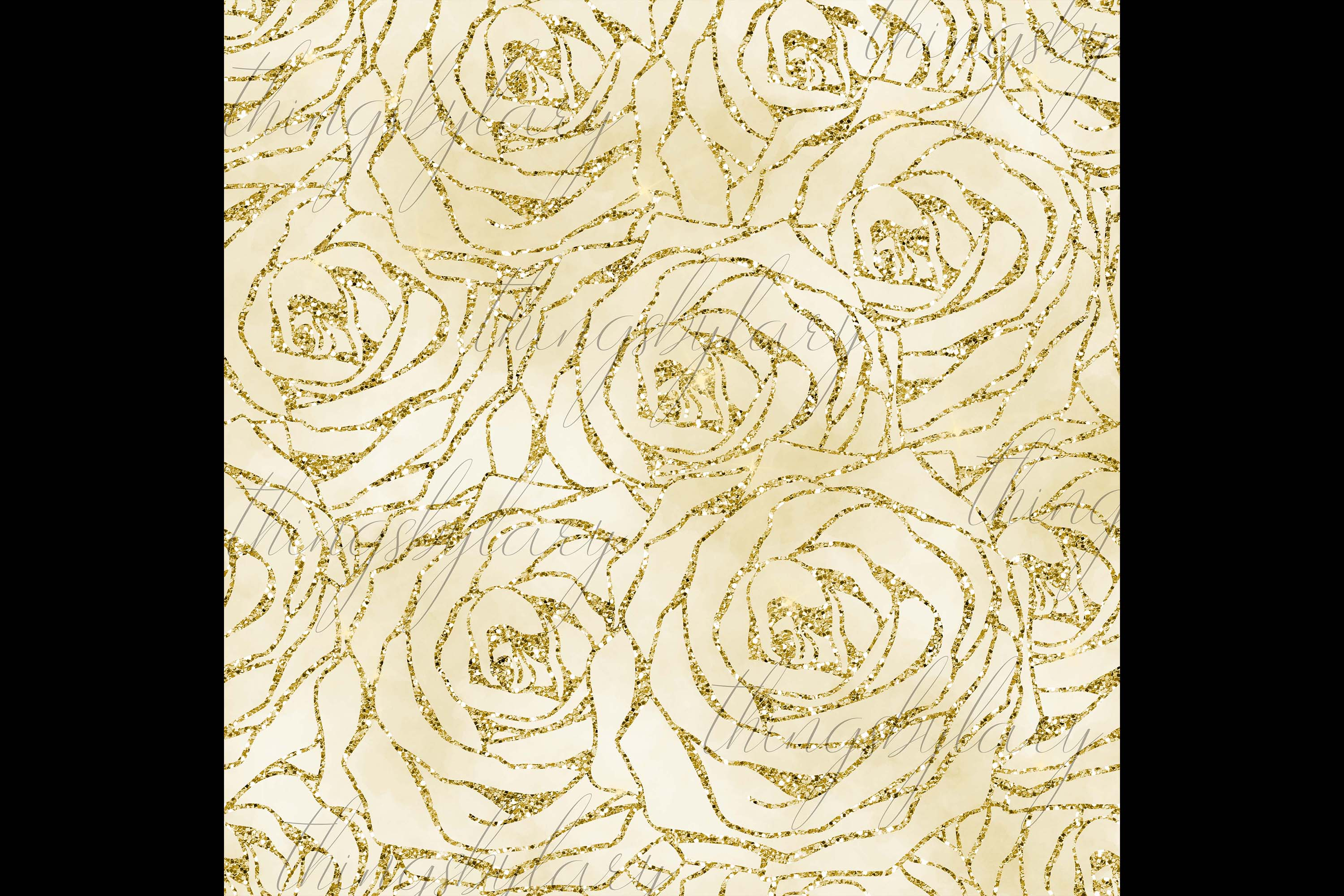16 Seamless Glitter Rose Net Overlay Digital Images PNG example image 5