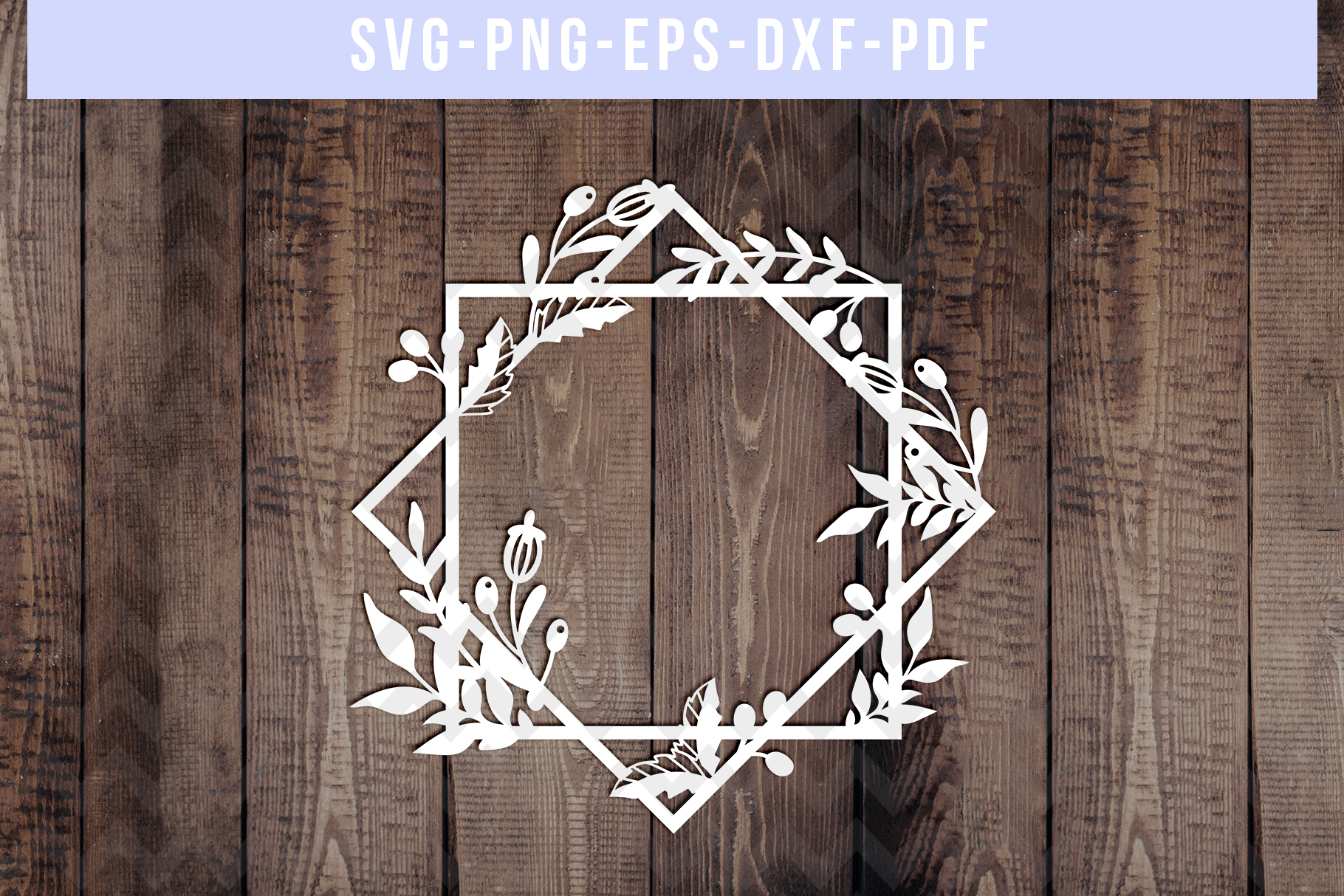 Bundle Of 9 Geometric Frame Papercut Templates, SVG, PDF DXF example image 5