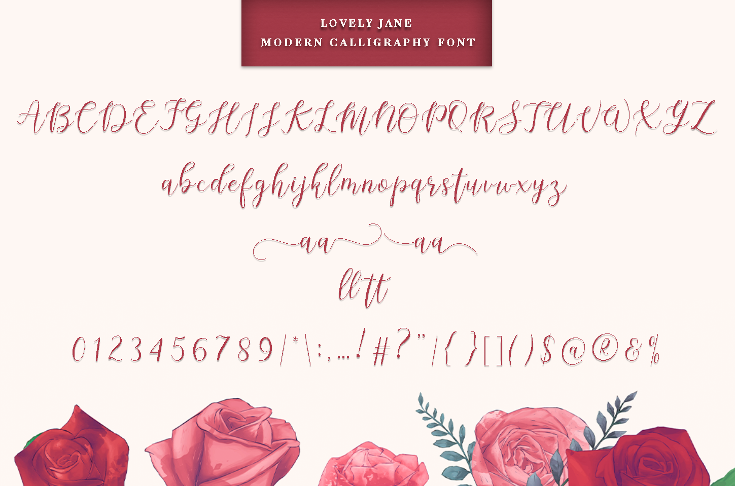 lovely Jane - Modern calligraphy font example image 5