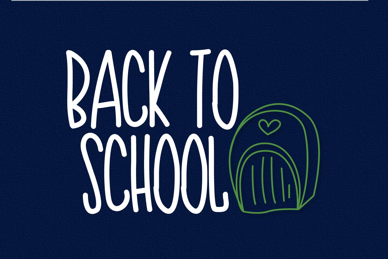 Teacher Doodles - A Dingbat Back To School Font  example image 4