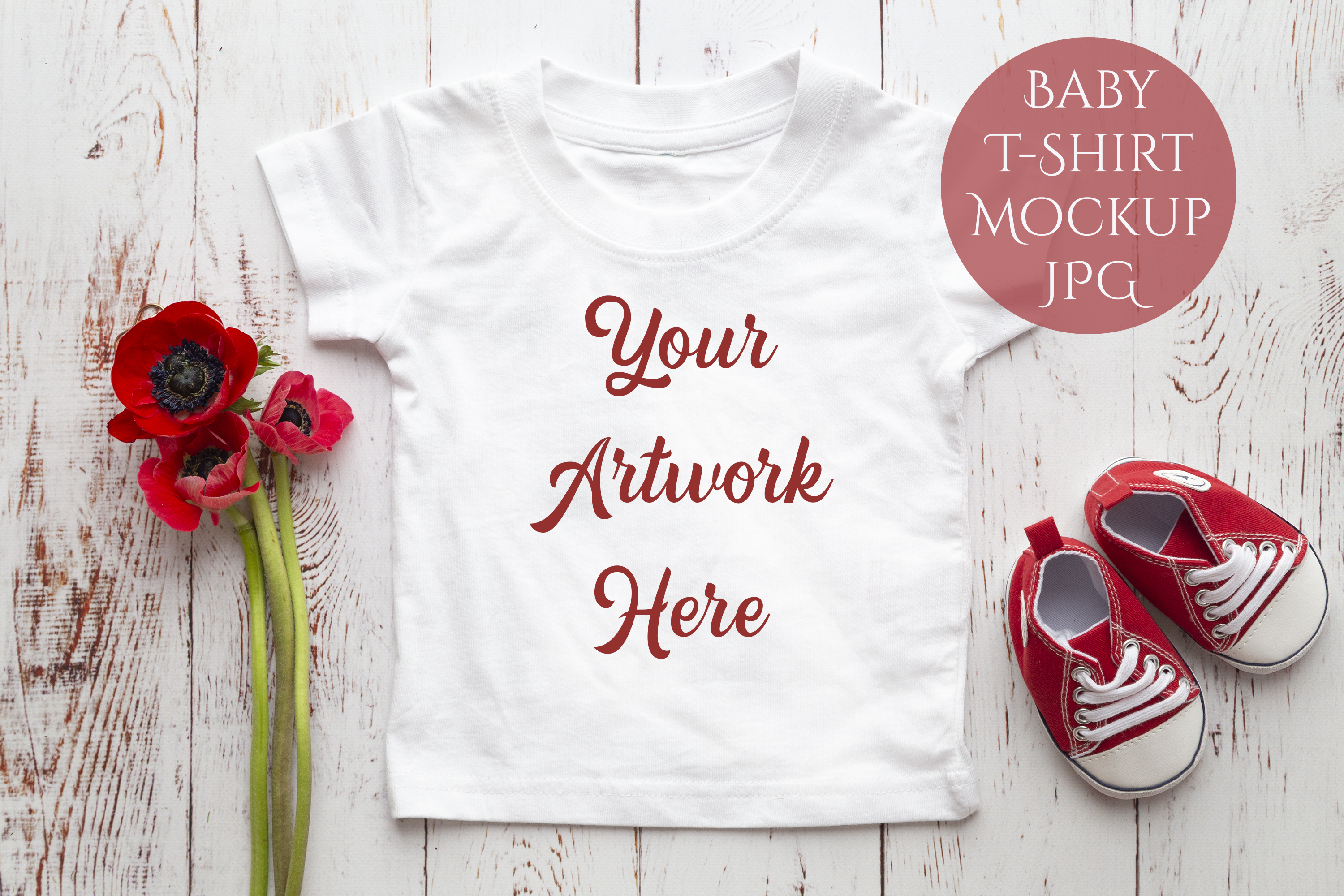 Onesie, Infant T-Shirt Mockup example image 1