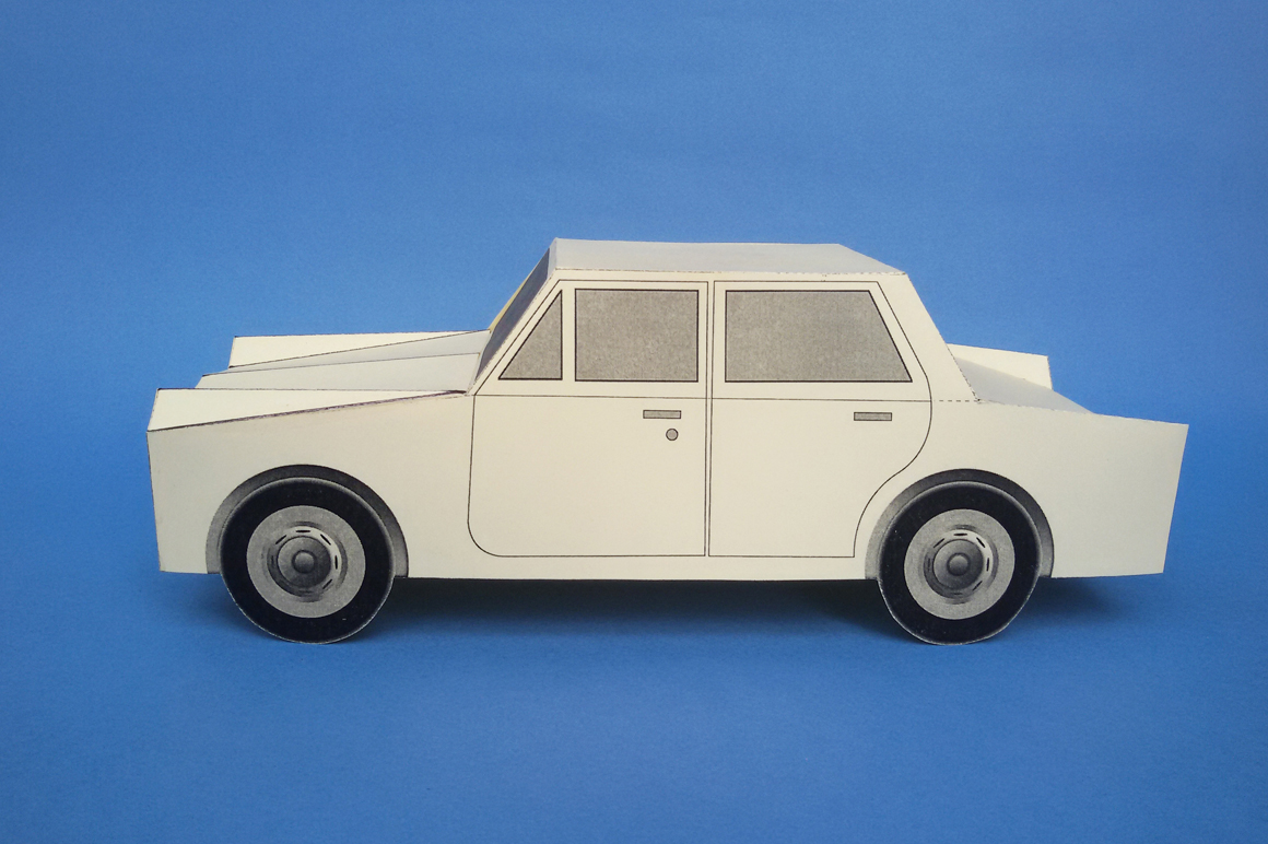 DIY Paper Car - 3d papercraft example image 2