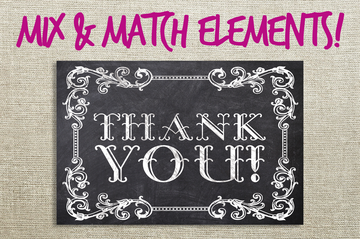 Chalk Thank You Cards Bundle example image 2
