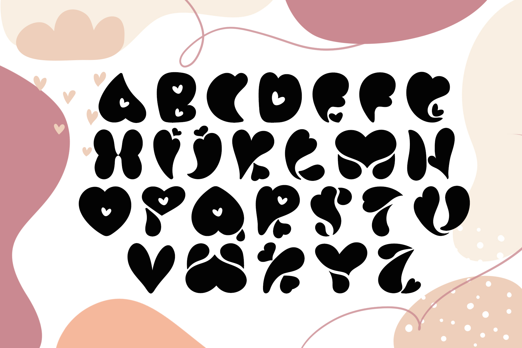 Love You Hand Drawn Valentine Font example image 5