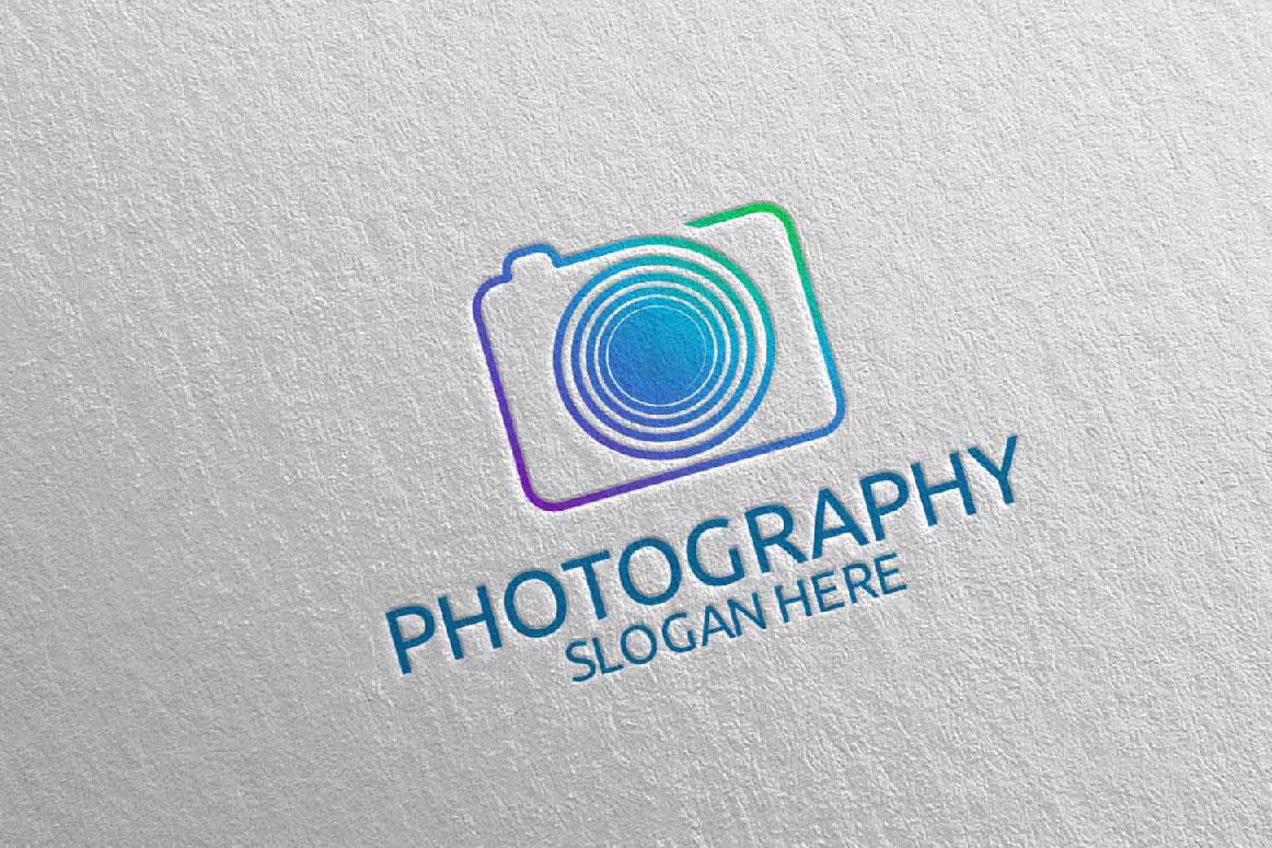 Abstract Camera Photography Logo 10 example image 5