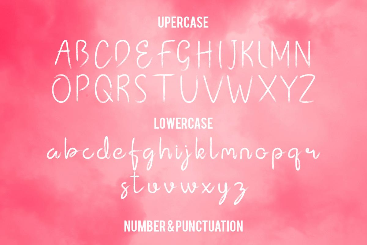 lintang handwritten brush font example image 4