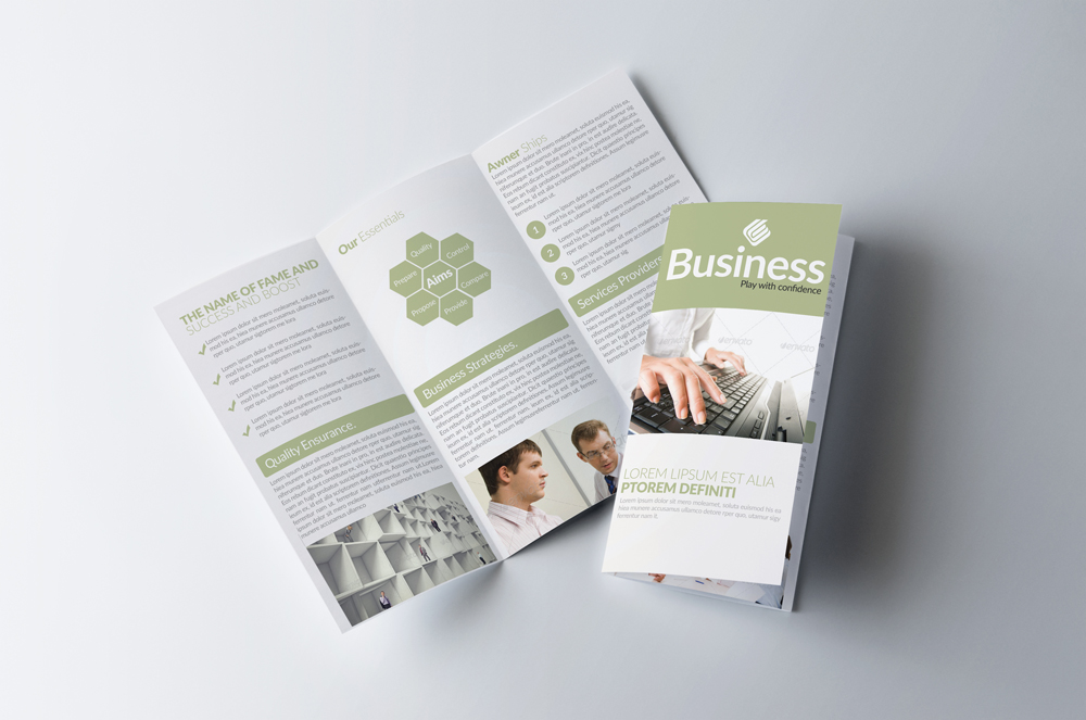 Business Corporate Trifold Brochure example image 1